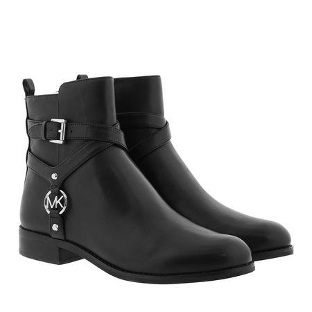 Michael Kors  Boots  -  Preston Flat Bootie Black  - in schwarz  -  Boots für Damen grau