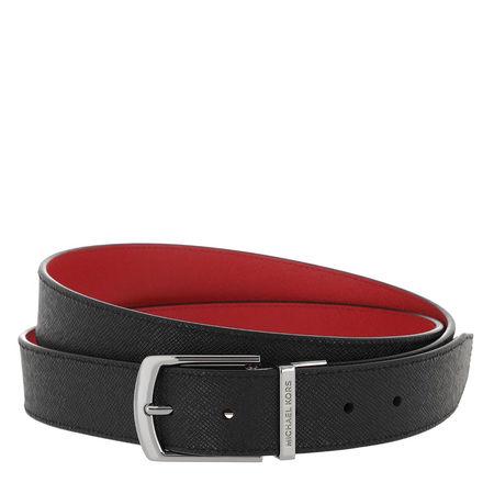 Michael Kors  Gürtel  -  Men 34Mm Dress Belt Black Rd  - in schwarz  -  Gürtel für Damen rot