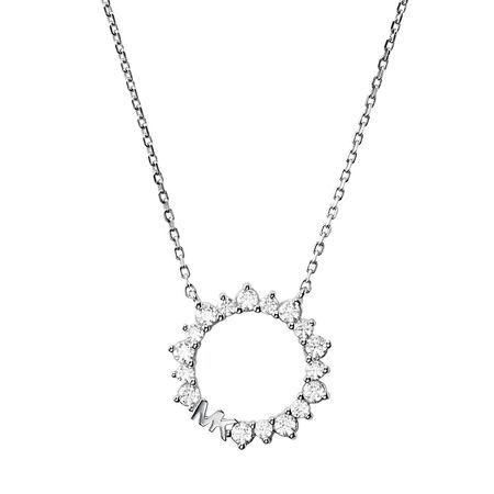 Michael Kors  Halskette - Kors Mk Necklace - in silber - für Damen grau
