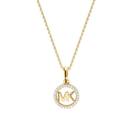 Michael Kors  Halskette  -  MKC1108AN710 Logo Charm Neck Gold  - in gold  -  Halskette für Damen orange