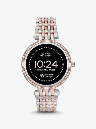 Michael Kors MK Zweifarbige Smartwatch Gen5E Darci Mit Pavé-Fassung - Zweifarbig(Silberton) -