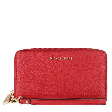 Michael Kors  Portemonnaie  -  Jet Set Large Flat Multifunction Phone Case Bright Red  - in rot  -  Portemonnaie für Damen rot