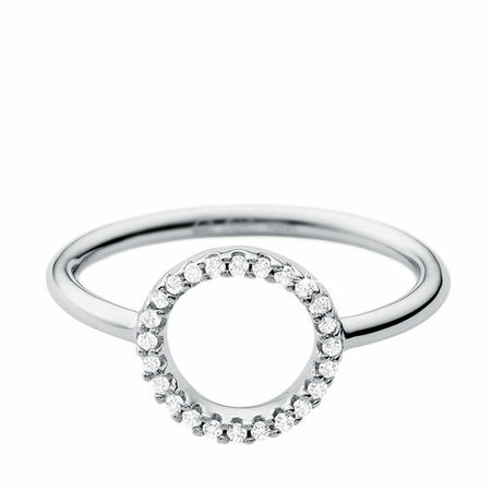 Michael Kors  Ring - Sterling Silver Pavé Circle Focal Ring - in silber - für Damen