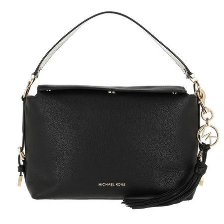 Michael Kors  Satchel Bag  -  Brooke Medium Satchel Black  - in schwarz  -  Satchel Bag für Damen schwarz