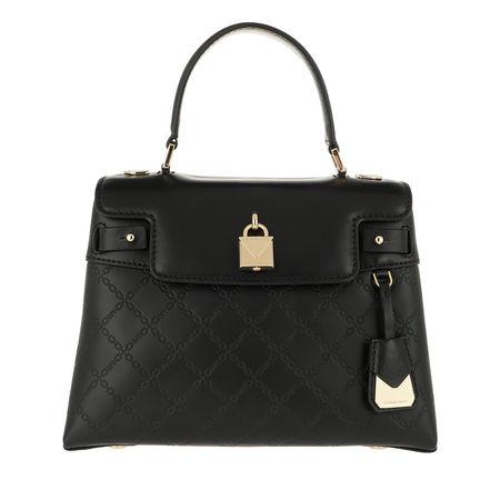 Michael Kors  Satchel Bag  -  Gramercy Medium Th Satchel Black  - in schwarz  -  Satchel Bag für Damen schwarz