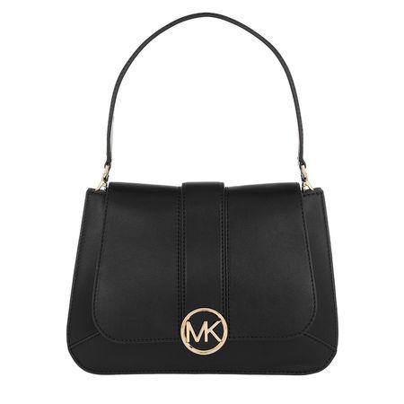 Michael Kors  Satchel Bag  -  Lillie MD TH Flap Black  - in schwarz  -  Satchel Bag für Damen schwarz