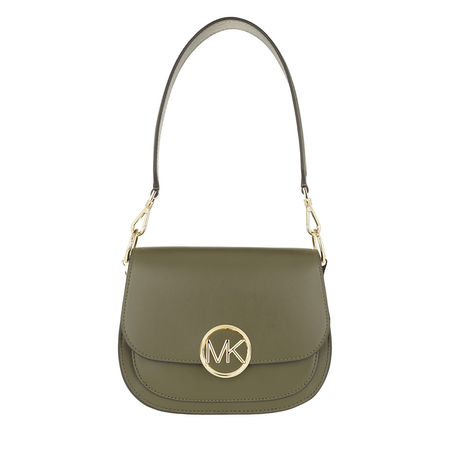 Michael Kors  Satchel Bag  -  Lillie Medium Saddle Shopping Bag Olive  - in grün  -  Satchel Bag für Damen braun