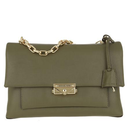 Michael Kors  Umhängetasche  -  Cece Large Chain Shoulder Bag Olive  - in grün  -  Umhängetasche für Damen braun