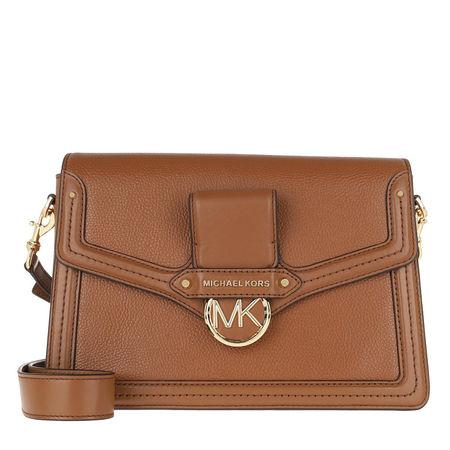 Michael Kors  Umhängetasche  -  Jessie Lg Flap Shoulder Luggage  - in cognac  -  Umhängetasche für Damen braun