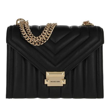 Michael Kors  Umhängetasche  -  Whitney Large Shoulder Bag Black  - in schwarz  -  Umhängetasche für Damen schwarz