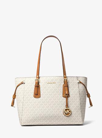 MICHAEL Michael Kors MK Shopper Voyager Medium Mit Logo - Vanille(Natürlich) - Michael Kors weiss