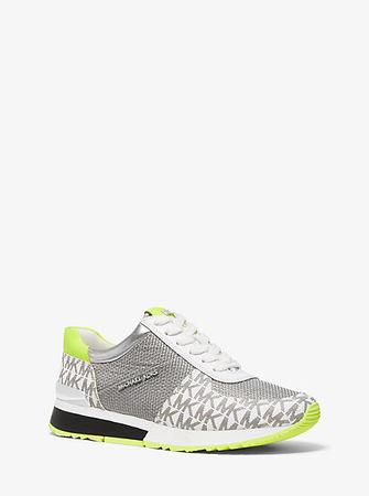 MICHAEL Michael Kors Sneaker Allie Aus Materialmix weiss