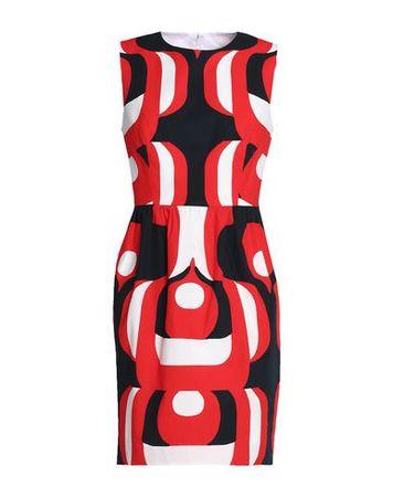 Milly  40 Damen Rot Kurzes Kleid Baumwolle, Elastan schwarz