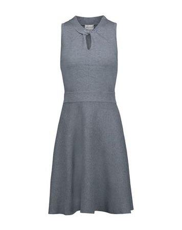 Milly  L Damen Taubenblau Kurzes Kleid Viskose, Polyester grau