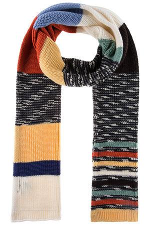 Missoni Damen Patchwork Strickschal Multicolor schwarz