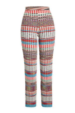 Missoni  Gemusterte Straight Leg Pants aus Wolle braun
