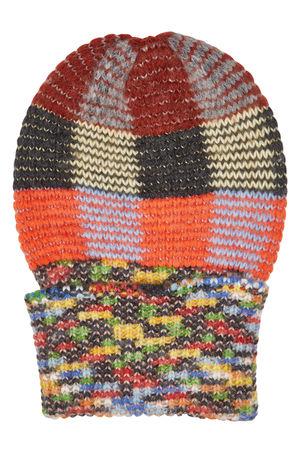 Missoni  Gemusterte Strickmütze aus Alpakawolle, Wolle und Kaschmir braun