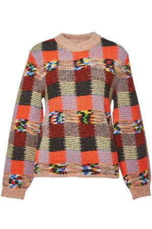 Missoni  Gemusterter Pullover aus Alpakawolle, Wolle und Kaschmir braun