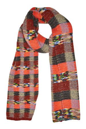 Missoni  Gemusterter Schal aus Alpakawolle, Wolle und Kaschmir braun