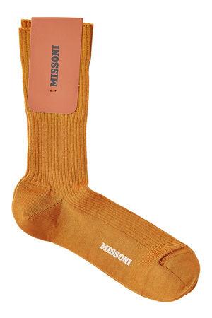 Missoni  Gerippte Socken mit Wolle orange