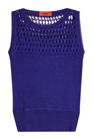 Missoni  Gestricktes Tanktop aus Baumwolle blau