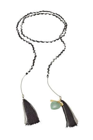 Missoni  Halskette mit Metall, Quasten und Charms grau