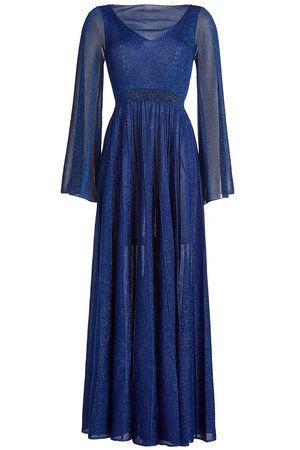 Missoni  Maxikleid mit Glitter-Finish blau