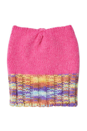 Missoni  Strickmütze mit Alpakawolle und Wolle pink