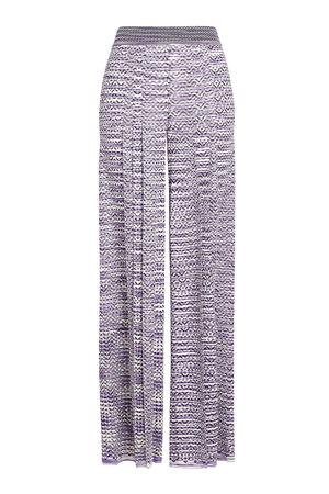 Missoni  Wide Leg Pants mit Muster grau