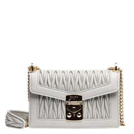 Miu Miu ® - Handtasche aus Leder in Grau für Damen, Größe UNI braun