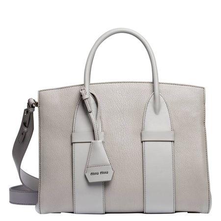 Miu Miu ® - Handtasche aus Leder in Grau für Damen, Größe UNI grau