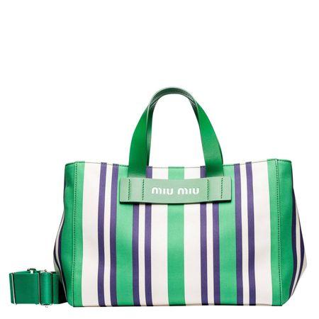 Miu Miu ® - Handtasche aus Leder in Grün für Damen, Größe UNI gruen