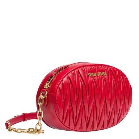 Miu Miu ® - Handtasche aus Leder in Rot für Damen, Größe UNI rot