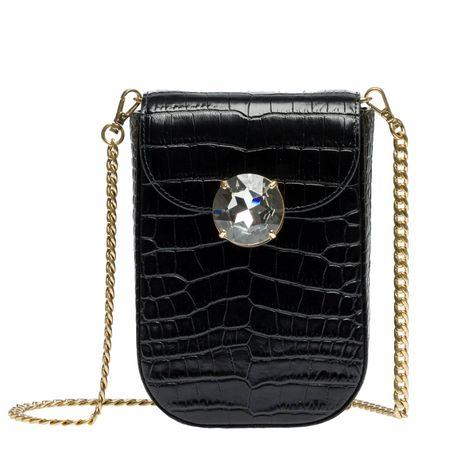 Miu Miu ® - Schultertasche aus Leder in Schwarz für Damen, Größe UNI schwarz