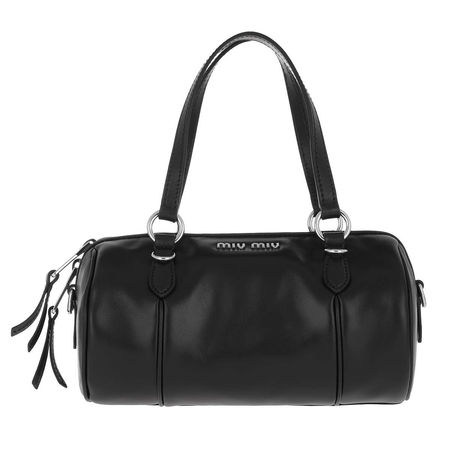 Miu Miu  Bowling Bag  -  Bandoleer Bag Soft Calf Leather Black  - in schwarz  -  Bowling Bag für Damen schwarz