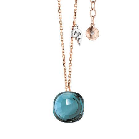 Miu Miu Capolavoro Halskette  -  Necklace Happy Holi Topas London Blue Cabochon Rosegold  - in roségold  -  Halskette für Damen orange