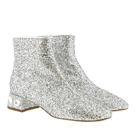 Miu Miu  Pumps  -  Glitter Fabric Booties Silver  - in silber  -  Pumps für Damen grau