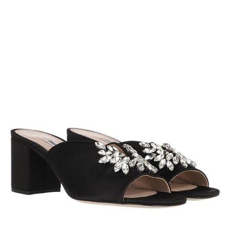 Miu Miu  Slipper & Pantoletten - Crystal Embellished Mules - in schwarz - für Damen schwarz