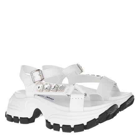 Miu Miu  Sneakers  -  Crystal Sandal White  - in weiß  -  Sneakers für Damen grau