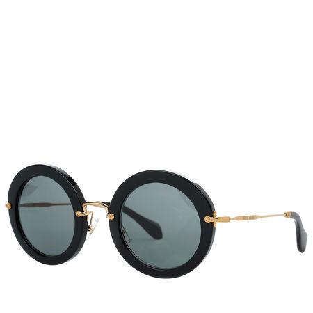 Miu Miu  Sonnenbrille  -  MU 0MU 13NS 49 1AB1A1  - in schwarz  -  Sonnenbrille für Damen schwarz