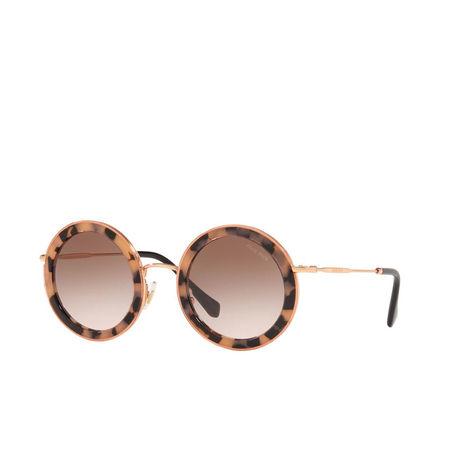 Miu Miu  Sonnenbrille  -  Women Sunglasses Core Collection 0MU 59US Pink Havana  - in pink  -  Sonnenbrille für Damen braun