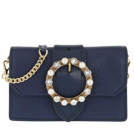 Miu Miu  Tasche  -  Bejeweld Buckle Belt Bag Inchiostro  - in blau  -  Tasche für Damen grau