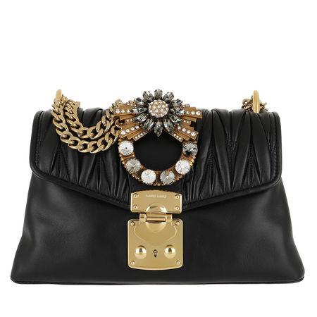 Miu Miu  Tasche  -  Borsa Tracolla Dettaglio Gioiello Nero  - in schwarz  -  Tasche für Damen schwarz
