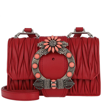Miu Miu  Tasche  -  Madras Miu Lady Shoulder Bag Calf Leather Fuoco  - in rot  -  Tasche für Damen rot