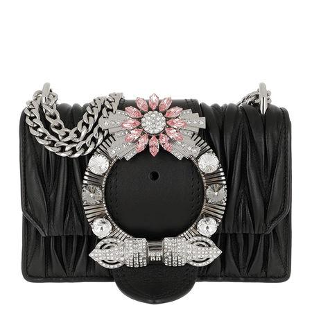 Miu Miu  Tasche  -  Miu Lady Matelassé Shoulder Bag Nappa Leather Black  - in schwarz  -  Tasche für Damen schwarz