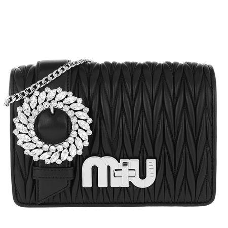 Miu Miu  Tasche  -  My Miu Matelassé Crossbody Bag Nero  - in schwarz  -  Tasche für Damen schwarz