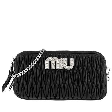 Miu Miu  Umhängetasche  -   Bag 5DH009 2BSQ Black  - in schwarz  -  Umhängetasche für Damen schwarz
