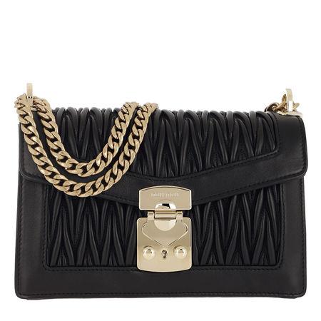 Miu Miu  Umhängetasche  -  Matelassé Push Lock Crossbody Bag Black  - in schwarz  -  Umhängetasche für Damen schwarz