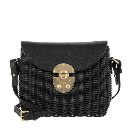 Miu Miu  Umhängetasche  -  Shoulder Bag Leather Nero  - in schwarz  -  Umhängetasche für Damen schwarz