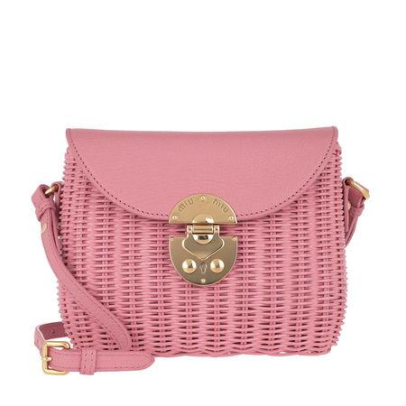 Miu Miu  Umhängetasche  -  Shoulder Bag Leather Rosa  - in rosa  -  Umhängetasche für Damen rot